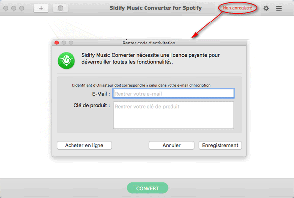 enregistrer Spotify Music Converter