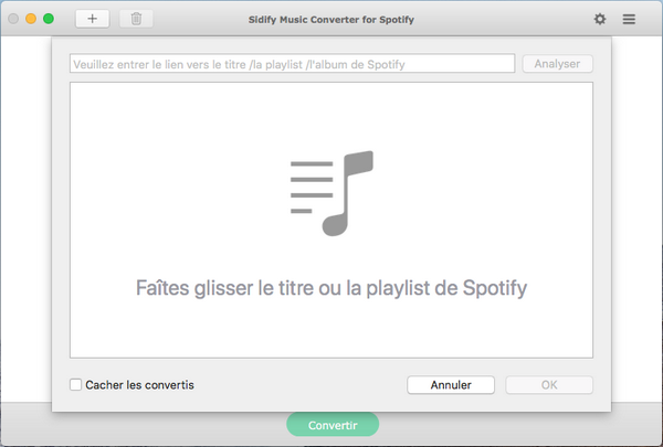 Ajouter spotify music ou Playlist