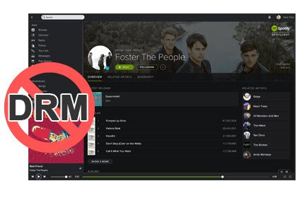 supprimer DRM depuis Spotify Music